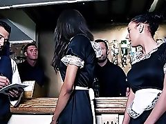 Maid Gets Hammered And Jizzed Big Time