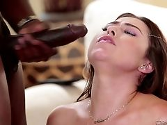 Her Black Pal Has A Humongous Sausage And Wants To Screw Her!