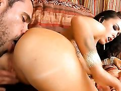 Brown-haired Jenna Presley With Big Butt Gets The Crevasse Inbetween Her Gams Plunge Fucked By Guys Rock Hard Man Meat