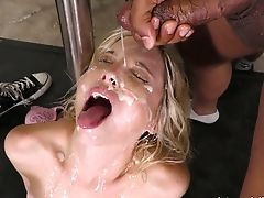 Gonzo Interracial Blowbang For Whorish Petite Blonde Piper Perri