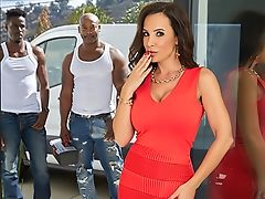 Mummy Lisa Ann's Interracial Threesome