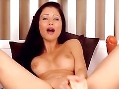 Hot Dark Haired Having The Most Insane Squirting Orgasm On Her Webcam