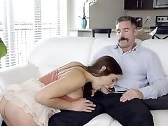 Fantasy Bang-out With Her Own Dad After Being A Horny Damsel