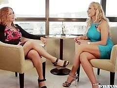 Well Stacked Blonde Sophie Evans Is Providing A Sexy Interview