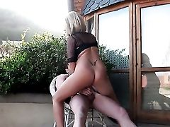 Blonde Cant Fight Back Guys Erect Meat Pole And Takes It In Her Mouth