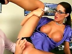 Sultry Spectacled Mummy With Excellent Titties And Butt Kortney Kane Deepthroats Big Dick Of Ramon Very First Of All Before Spreading Gams Broad And G