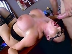 Woman With Phat Tits Amazing Bang-out At The Office