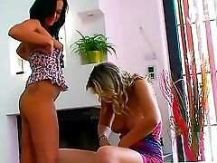 Backstage With A Hot Girly-girl Bitch Angelica Kitty And Her Gf Samantha Jolie