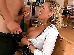 Sensational Blonde Is Carried Away And Groans As Her Taut Widely Opened Cunt Is Drilled Hard