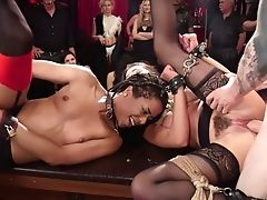 Tied Up Obedient Curvy Whore Kira Noir Gets All Her Crevices Masturbated Hard