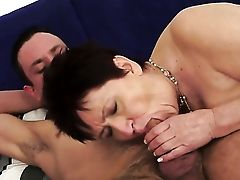 Dark-haired With Edible Bra-stuffers Is Good On Her Way To Make Hot Dude Finish Off On Oral Act