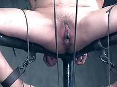 Trimmed Puss Brown-haired Ma Torro Gets Tied Up And Tormented. Hd