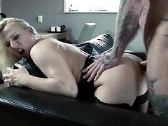 Astounding Gina Blonde Hard-core Home Porno