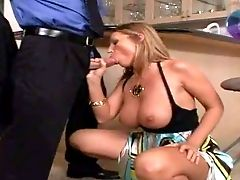Arousing Smoking Hot Curvy Blonde Assistant With Big Rock Hard Bootie