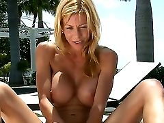 Smoking Hot Blonde Mummy Alexis Fawx With Big Jaw Ripping Off Hard Gazongas Gives Head To Youthful Lengthy Haired Buck And Makes Him Jism On Her Tits
