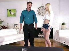 Filthy Stepdaughter Kenna James Gives A Nuru Rubdown And Rails Step-father's Fuckpole