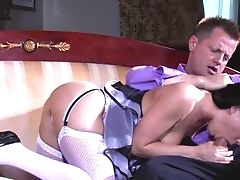 Maid Pleases Her Master With The Total Pack