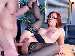 Assistant Fucked Hard And Made To Drink Chief's Jizz