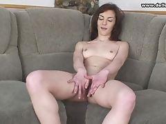 Smallish Tits Russian Solo Model Unpinning Her Miniskirt