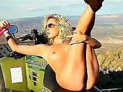 Mummy Blonde Kiara Diane Masturbates While In The Wild And Perceives Sated
