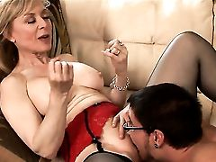 Dane Cross Gets Revved On To The Point Of No Comeback By Blonde Nina Hartley And Then Bangs Her Mouth