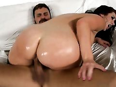 Jayden Jaymes With Gigantic Jugs And Clean Twat Has A Good Time Sucking Voodoos Cane