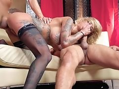 Fantastic Threesome For Bonnie Rotten And Two Fellows