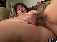 Yankee Elder Wifey Lori Is Frolicking Her Hairy Shabby Out Twat Closeup