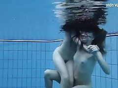 Clara Umora And Bajankina Horny Underwater Lezzies