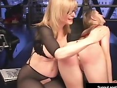 Junior Sunny Lane Penalized By Almost Granny Nina Hartley!