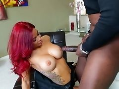 Pretty Cougar Ryder Skye With Lengthy Crimson Hair Wraps Her