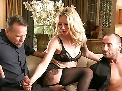 Blonde Whore Deals These Studs With Excellent Care And Fervor In Sensuous Trio