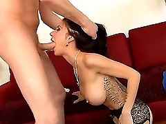 Fascinating Brown-haired With Exellent Bootylicious Bod Gia Dimarco Banged By Hot Mark Wood
