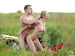 Hard-core Rough Rear End Fuck With A Blonde Nubile Hoe Outdoors