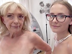 Teenage Tart + 68yo Gilf: Sick Ass-fuck Three-way