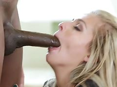 Sugary Light-haired Orgy Doll Madelyn Pleases Black Man With Steamy Deep Mouth