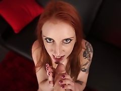 Amazing Alexa Crimson Stands On Knees As She Wanna Nothing But Wank Your Dick