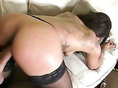 Tattooed Cocoa Leilani Leeane With Bubbly Bum And Hairless Beaver Takes It In Her Mouth After Voodoos Dick Becomes Stiff And Hard